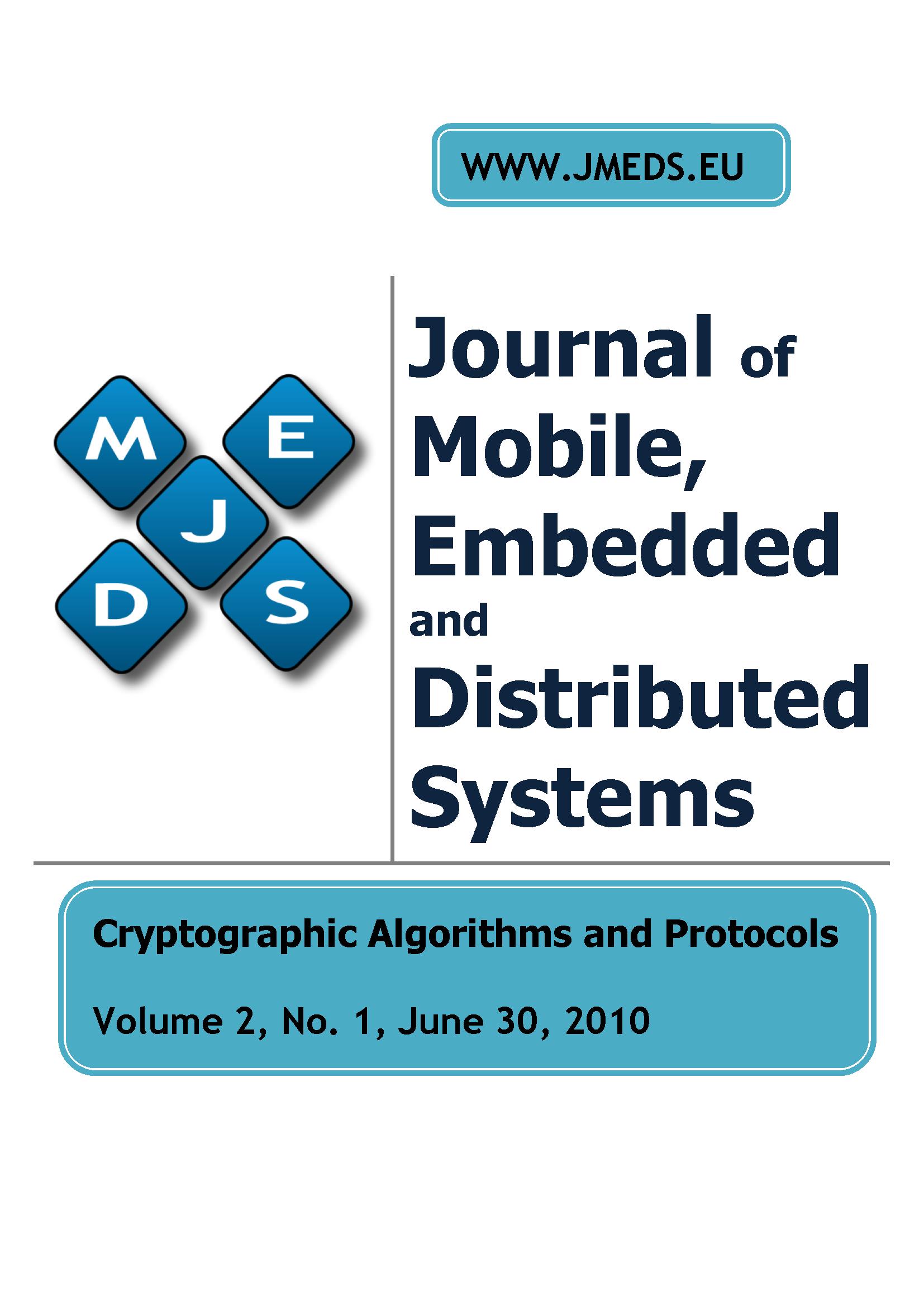 JMEDS, vol 2, no 1, 2010, Cryptographic Algorithms and Protocols